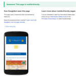 checking a mobile-friendly site