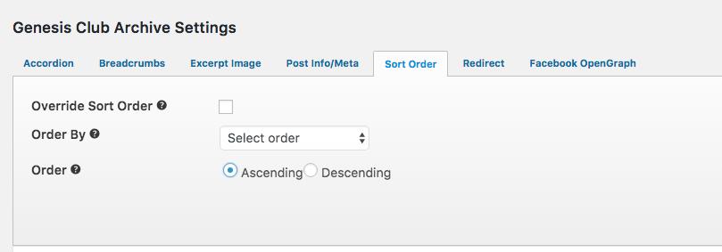 Ascending Order for Specific Post