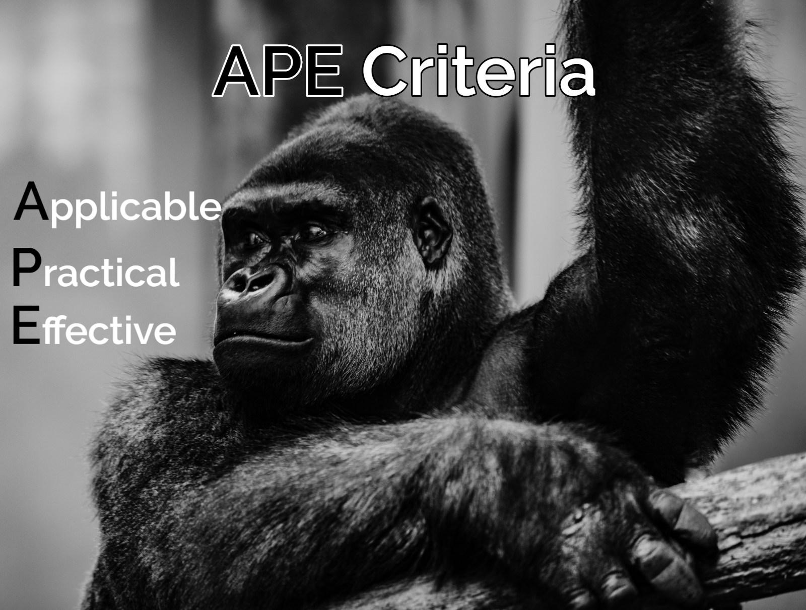 APE Criteria BrodNeil.com