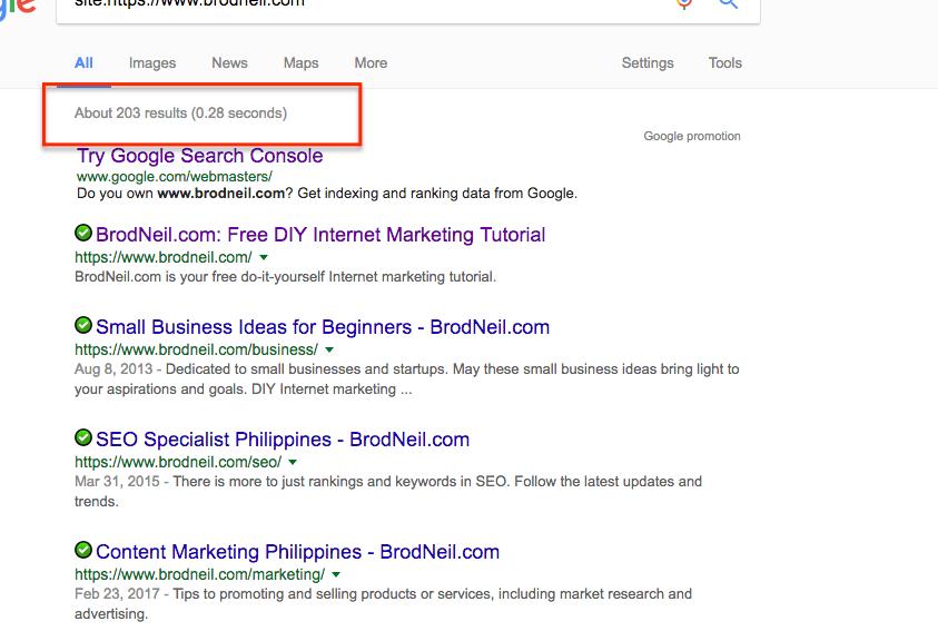 google search result for www.brodneil.com