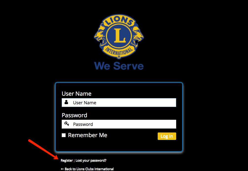 show register in admin custom login