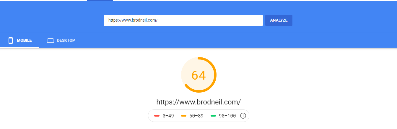 Mobile PageSpeed Score with Adsense