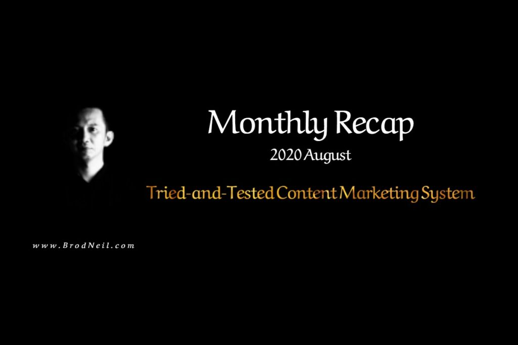 Monthly Recap: 2020 August