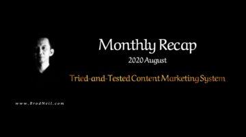 Monthly Recap 2020 August BrodNeil.com