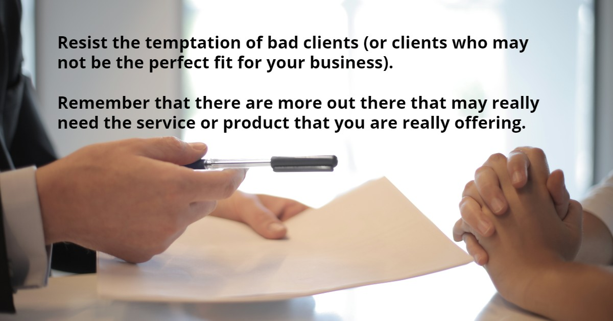 avoid bad clients