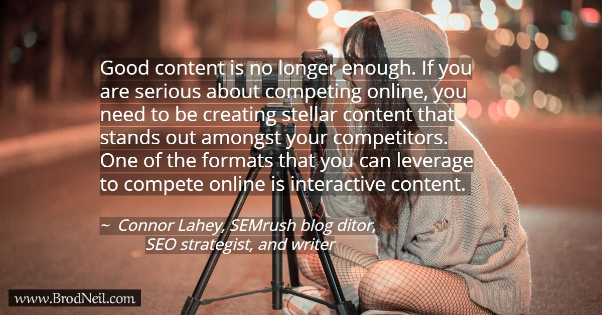 Quote on content marketing - interactive content