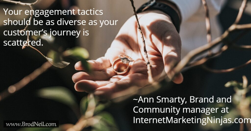 Quote on engagement tactics
