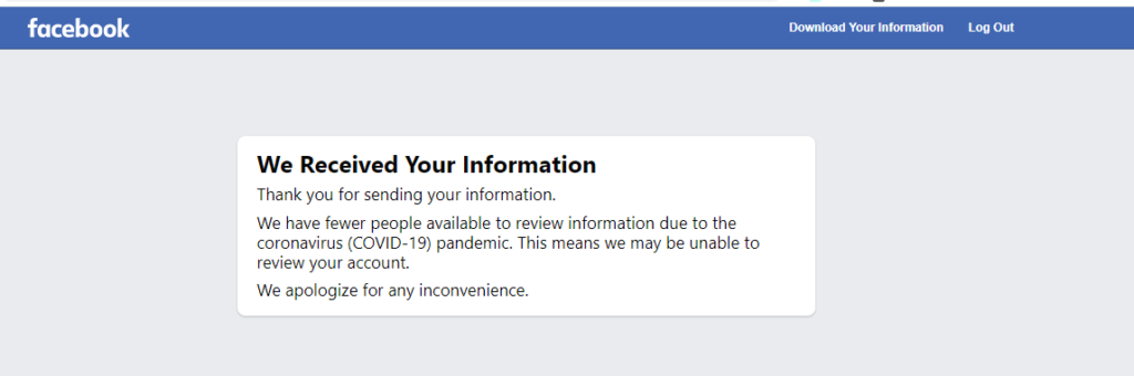 Facebook Account Got Shutdown 1