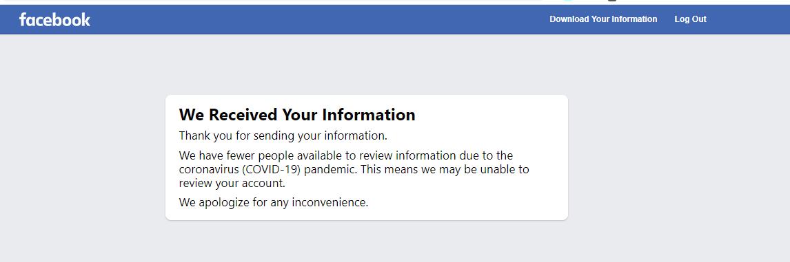Facebook Account Got Shutdown 1