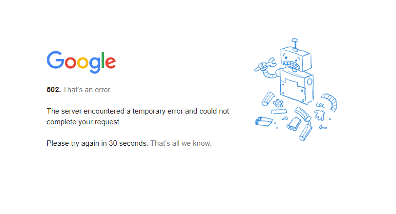 Google Is Down 1