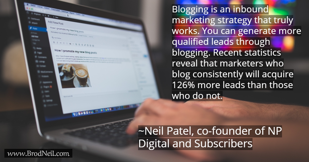 quote on marketing strategy - blogging