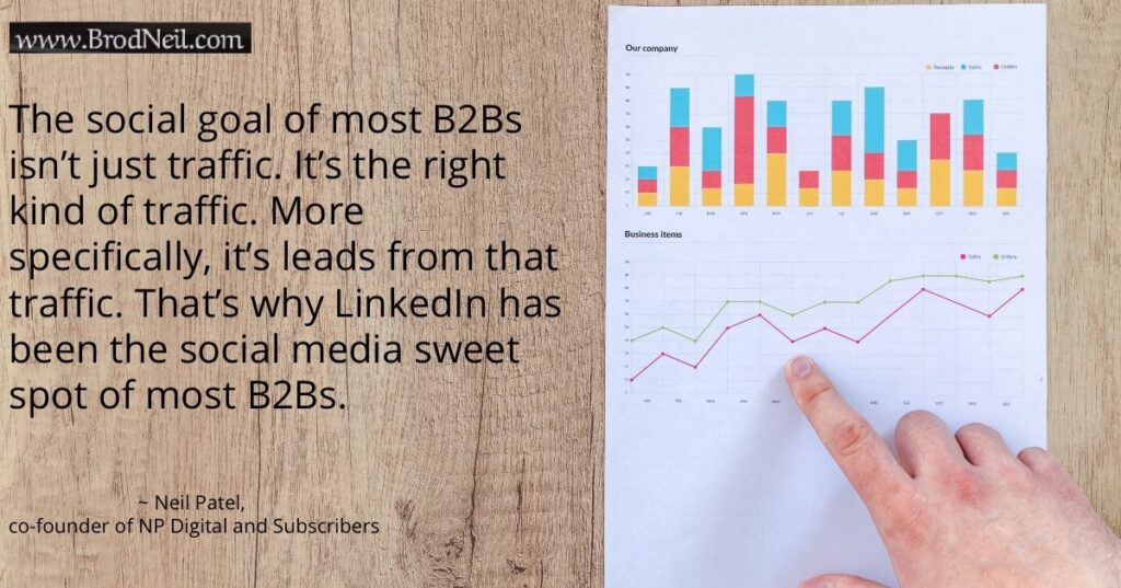 Quote on B2B social media goal