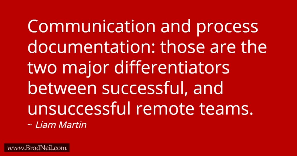 communication and process documentation